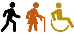 walking wheelchair icon